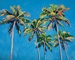 Bright Palms by Leila Barton -  sized 39x32 inches. Available from Whitewall Galleries